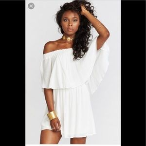 Show me your Mumu off the shoulder dress L